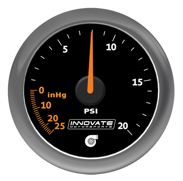 MTX-A: Analog Series 20 PSI Vac / Boost Gauge - P/N: 3857